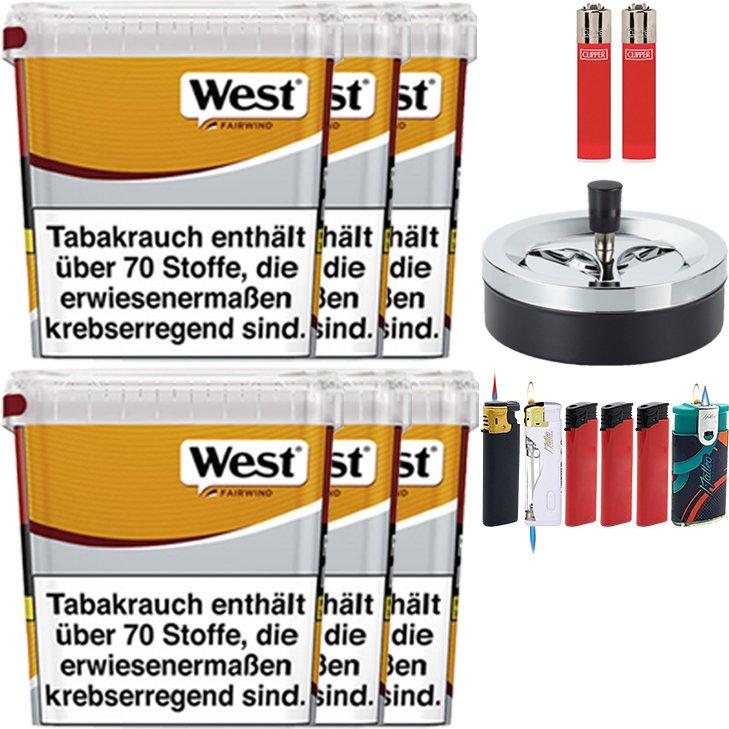 West Yellow Fairwind 6 x 310g mit Aschenbecher