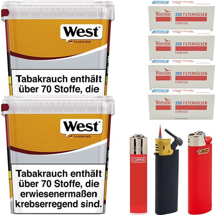 West Yellow Fairwind 2 x 310g mit 1000 Extra Size Hülsen