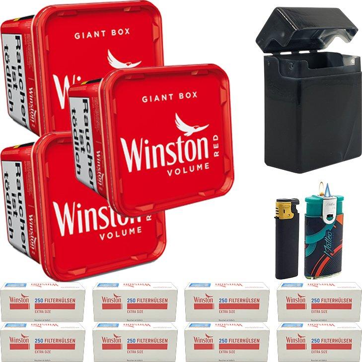 Winston Giant Box 3 x 260g mit 2000 Special Size Hülsen
