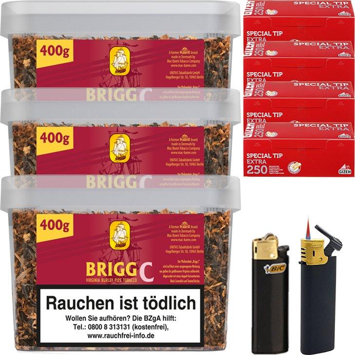 Brigg Cherry 3 x 400g mit 1000 Extra Size Hülsen