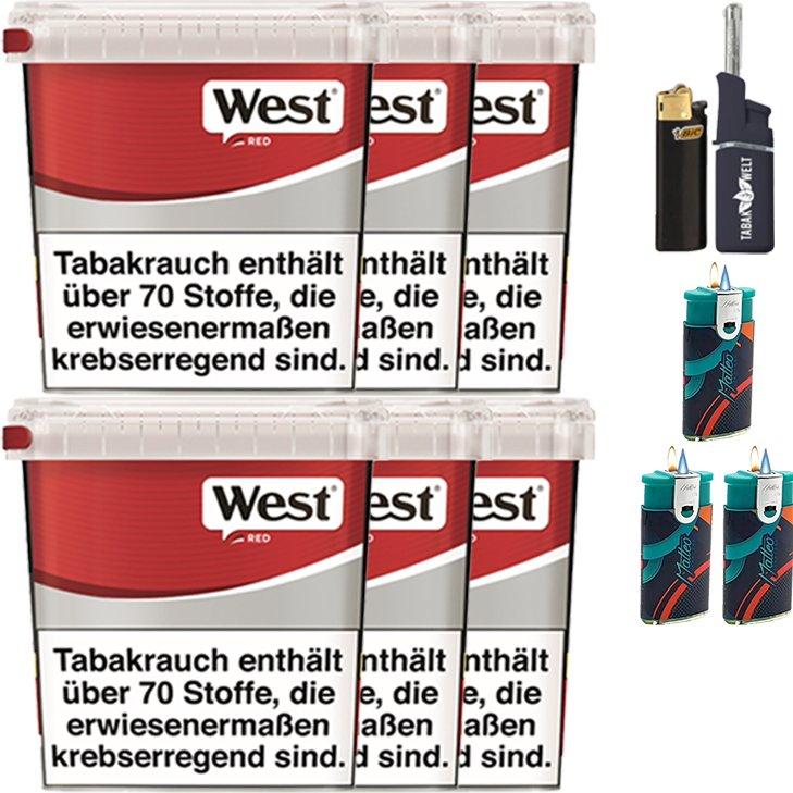 West Red 6 x 260g mit Feuerzeugen