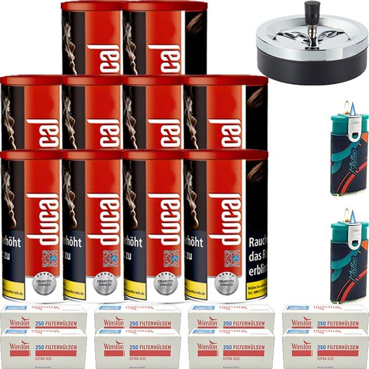 Ducal Red 10 x 200g mit 2000 Special Size Filterhülsen