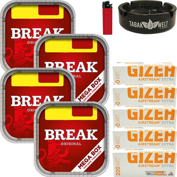 Break Original 4 x 170g mit 1000 Extra Hülsen