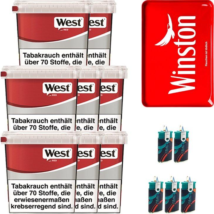 West Red 8 x 260g mit Stopftablett
