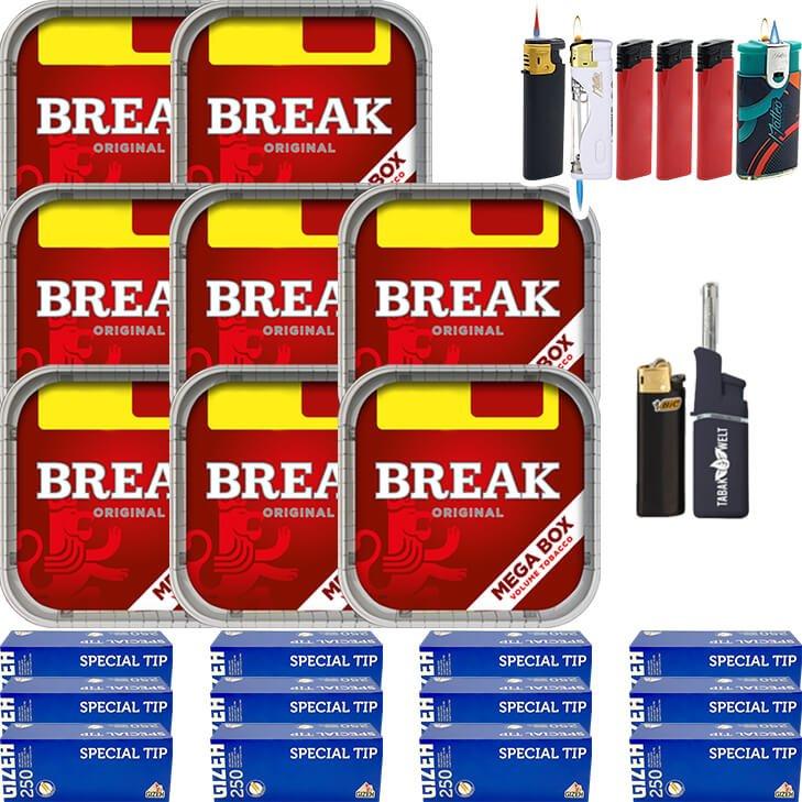 Break Original 8 x 170g mit 3000 King Size Hülsen