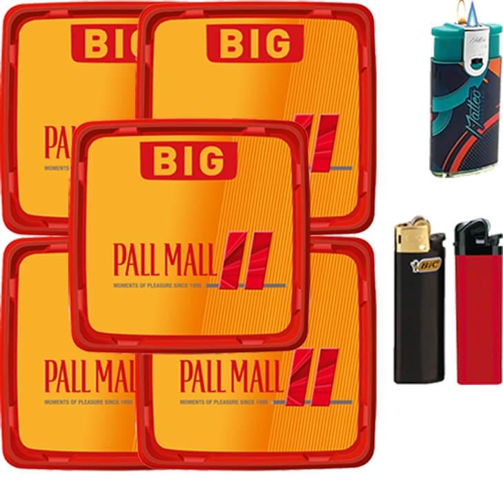 Pall Mall Allround Red 5 x 120g mit Feuerzeugen