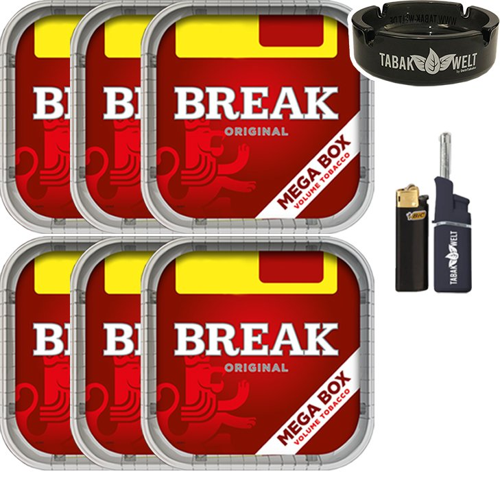 Break Original 6 x 170g mit Glasaschenbecher