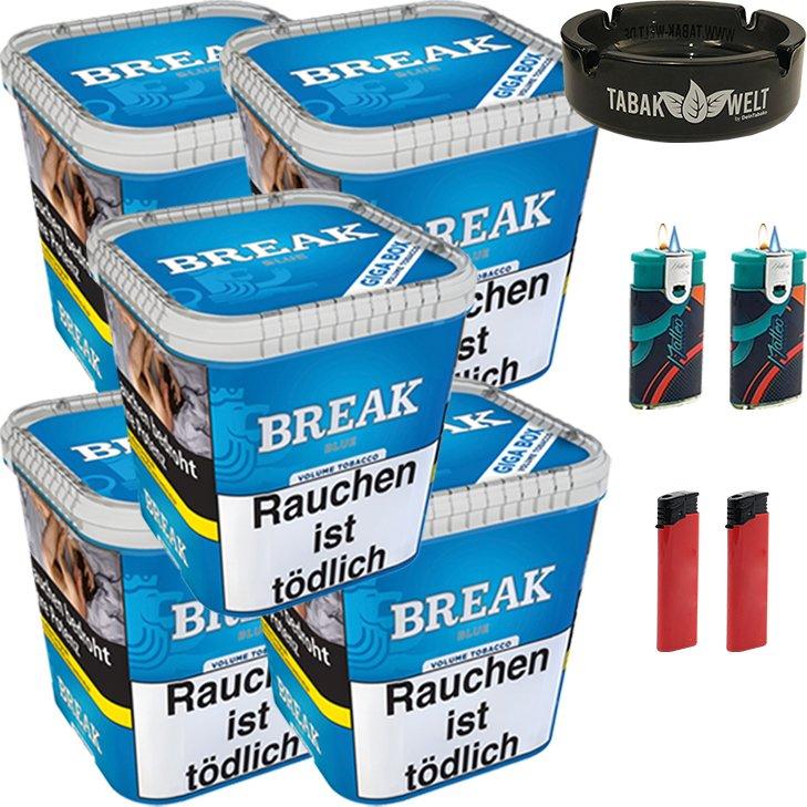 Break Blue 5 x 230g mit Glasaschenbecher