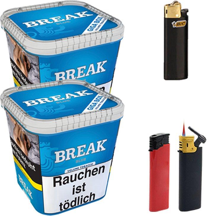 Break Blue 2 x 230g mit Feuerzeugen