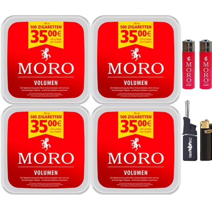 Moro Volumen 4 x 225g mit Clipper Feuerzeuge