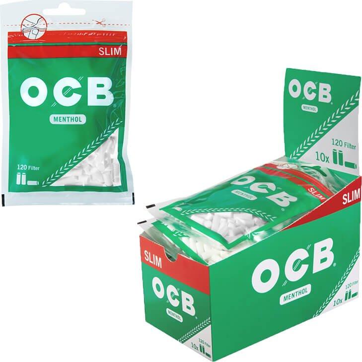 OCB Drehfilter Menthol 6 mm 10 X 120 Stück