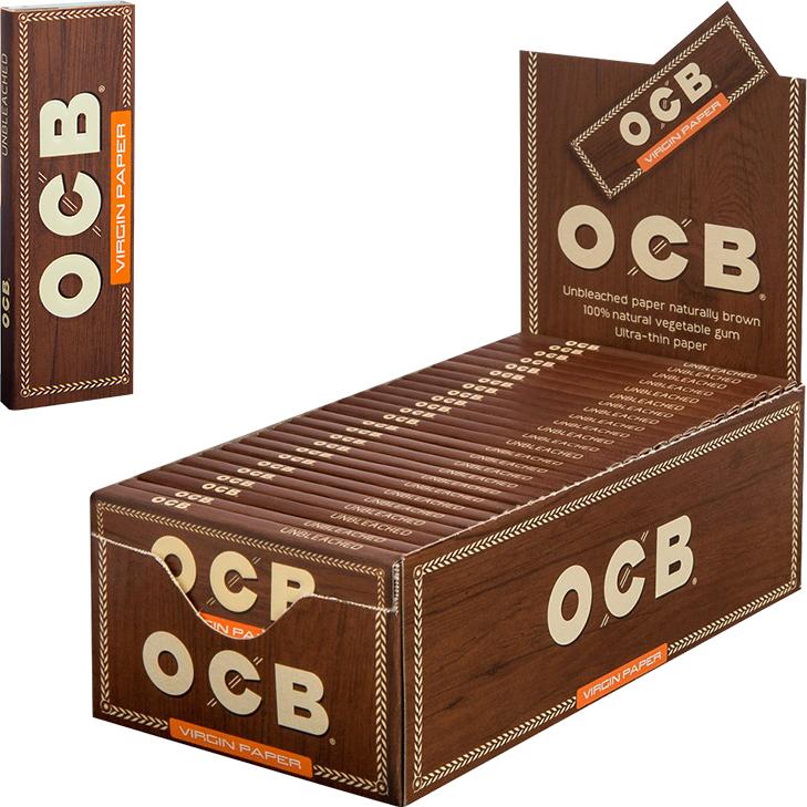 OCB Unbleached Virgin Paper 50 x 50 Blatt