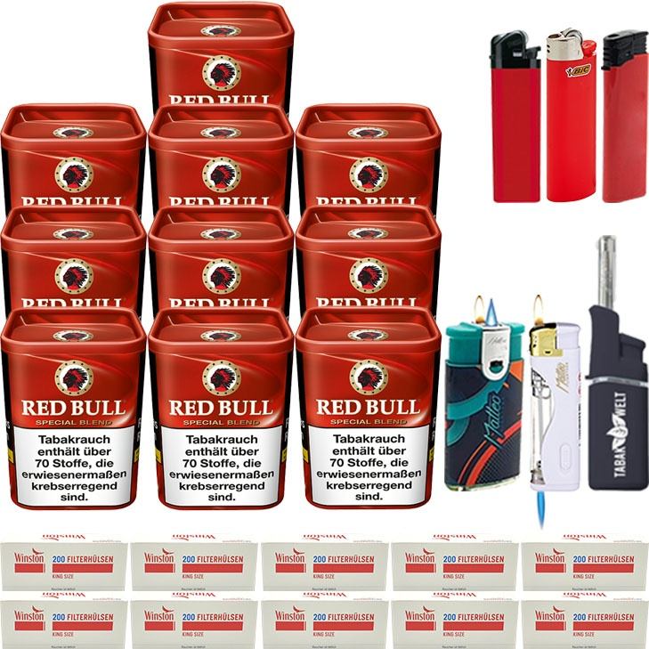 Red Bull Special Blend 10 x 120g mit 2000 King Size Hülsen