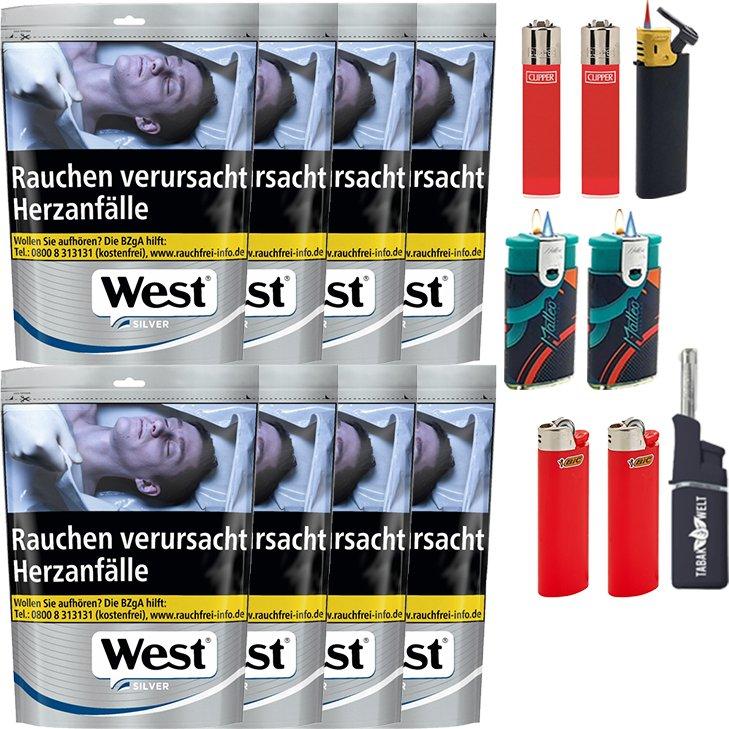 West Silver 10 x 96g mit Feuerzeugen