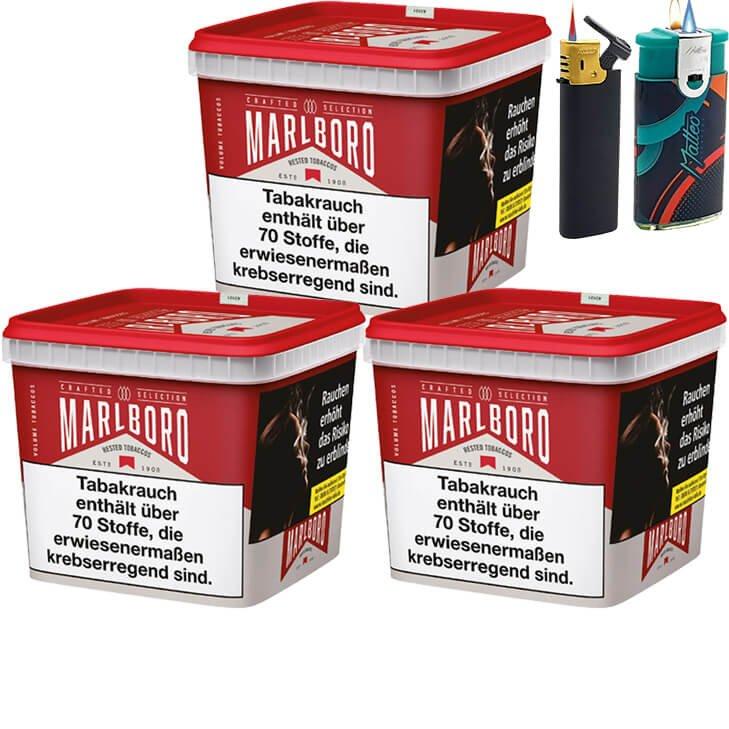 Marlboro Crafted Selection 3 x 300g mit Feuerzeugen