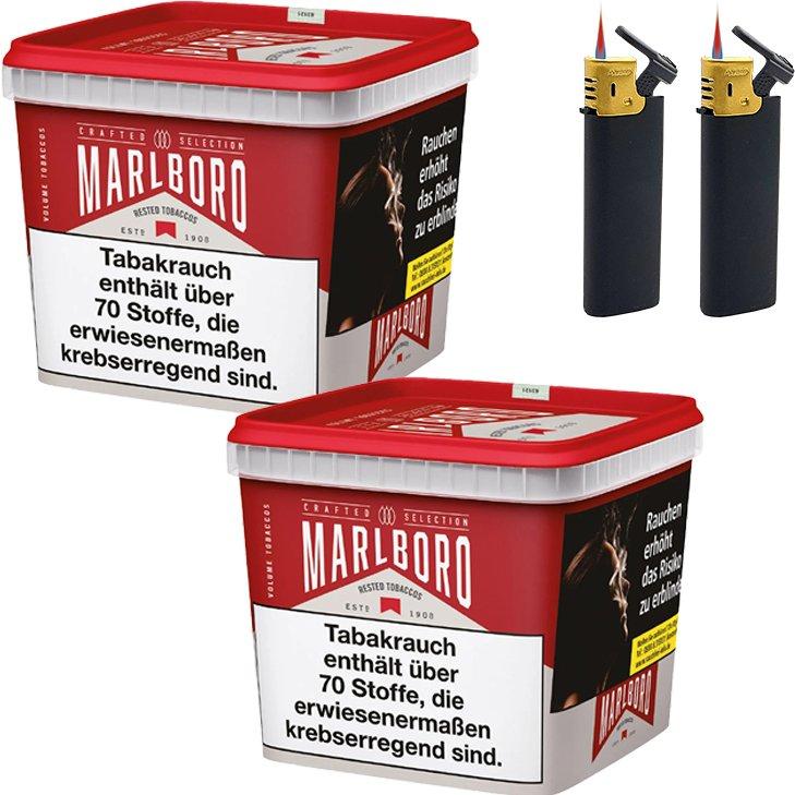 Marlboro Crafted Selection 2 x 270g mit Sturmfeuerzeugen