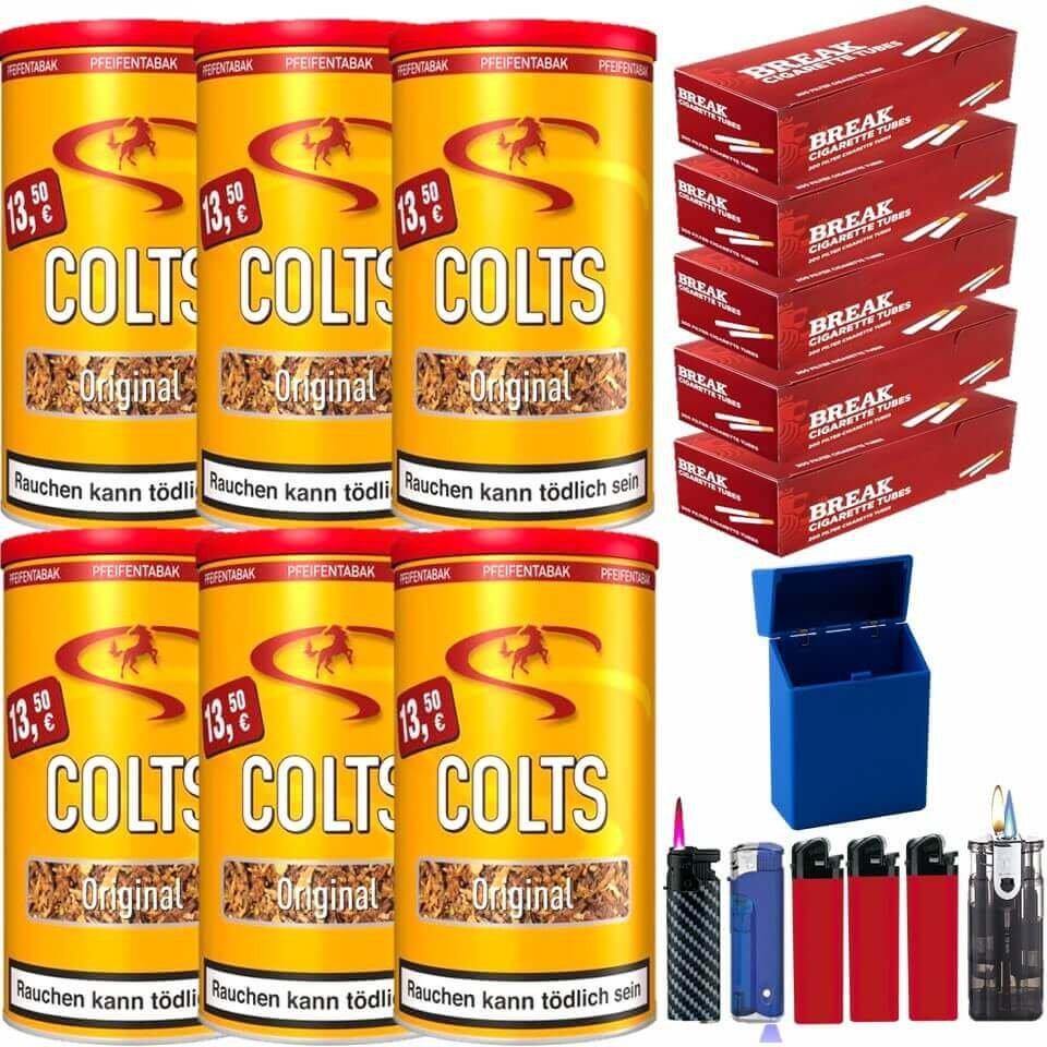 Colts Original 6 x 170g Pfeifentabak 1000 King Size Filterhülse Uvm.