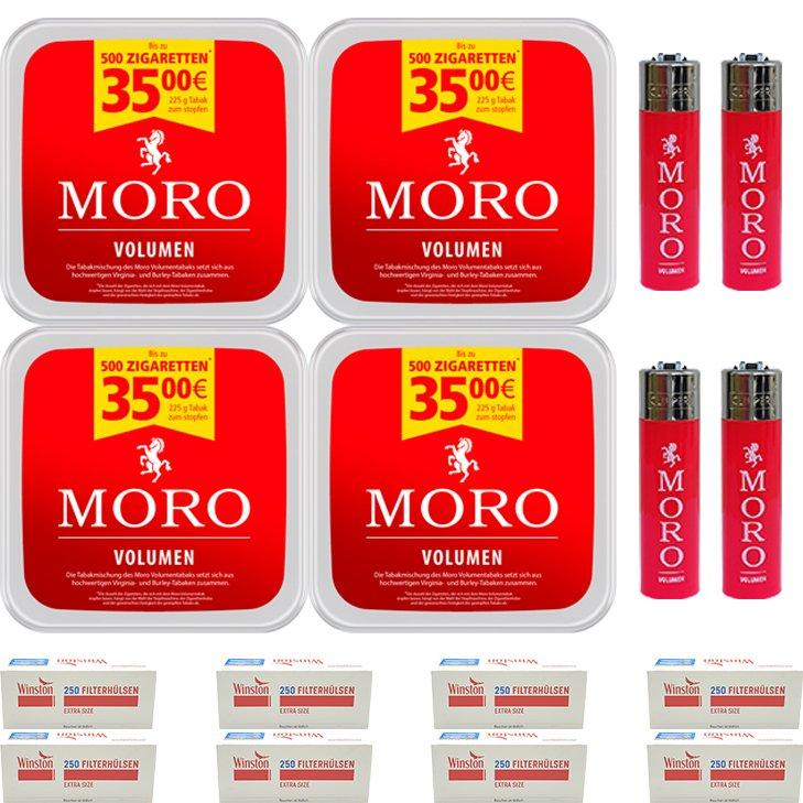 Moro Volumen 4 x 225g mit 2000 Special Size Hülsen