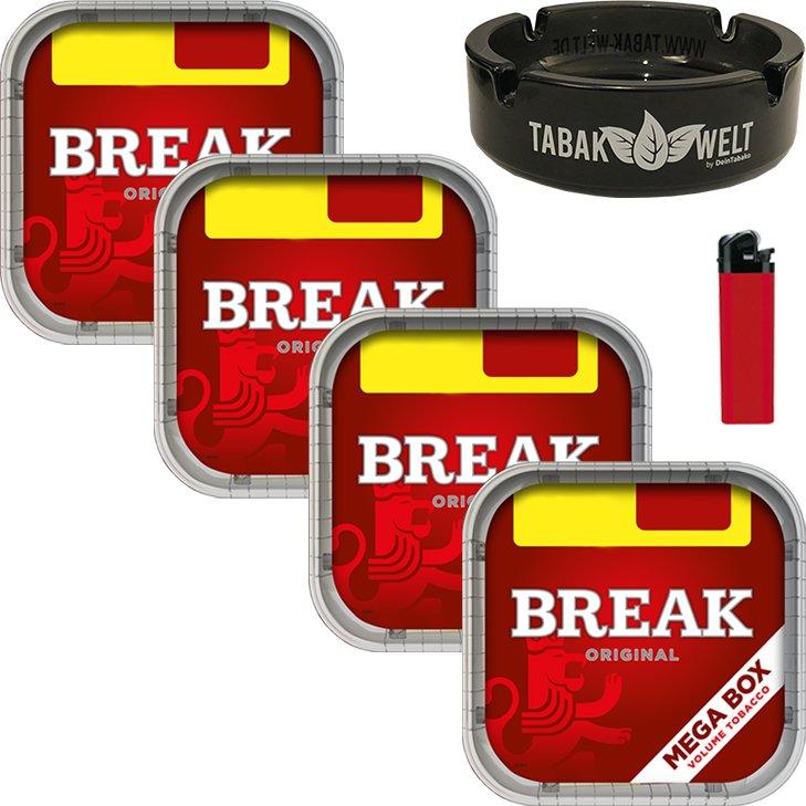 Break Original 4 x 170g mit Glasaschenbecher