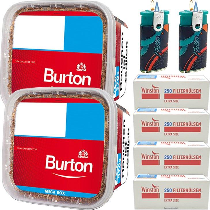 Burton 2 x 350g mit 1000 Extra Size Hülsen
