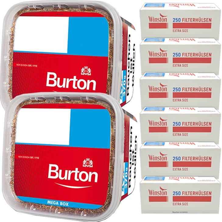Burton 2 x 350g mit 1500 Extra Size Hülsen