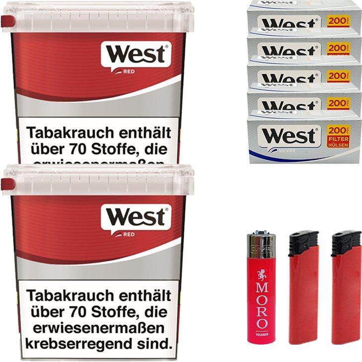 West Red 2 x 260g mit 1000 Silver Hülsen