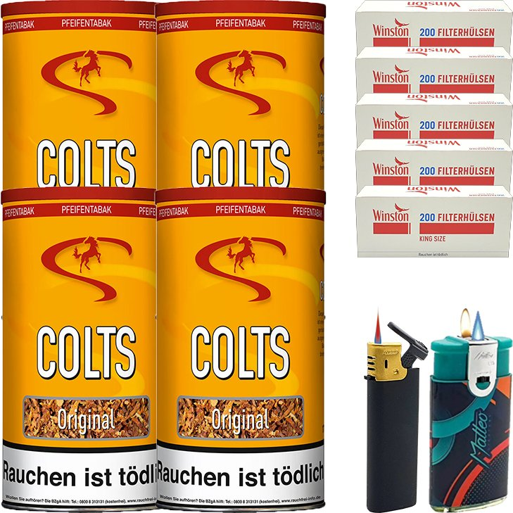 Colts Original 4 x 170g mit 1000 King Size Hülsen