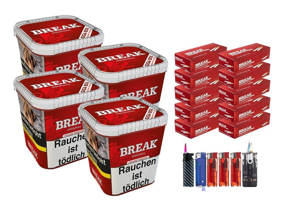 Break Original 4 x 230g Volumentabak 2000 Break Filterhülsen Uvm.