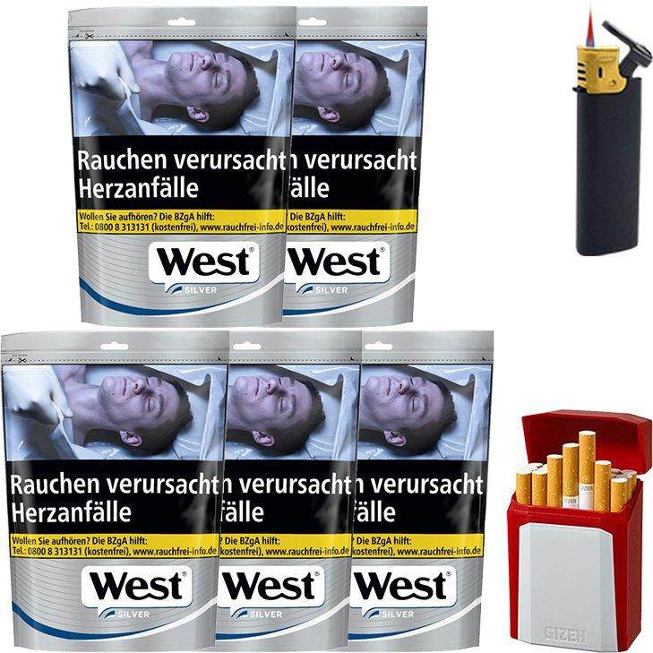 West Silver 5 x 96g mit Etui