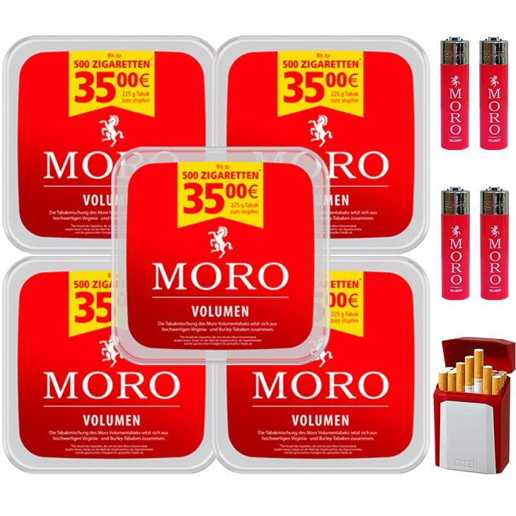 Moro Volumen 5 x 225g mit Clipper Feuerzegen