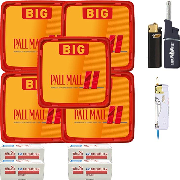 Pall Mall Allround Red 5 x 120g mit 1000 Special Size Hülsen