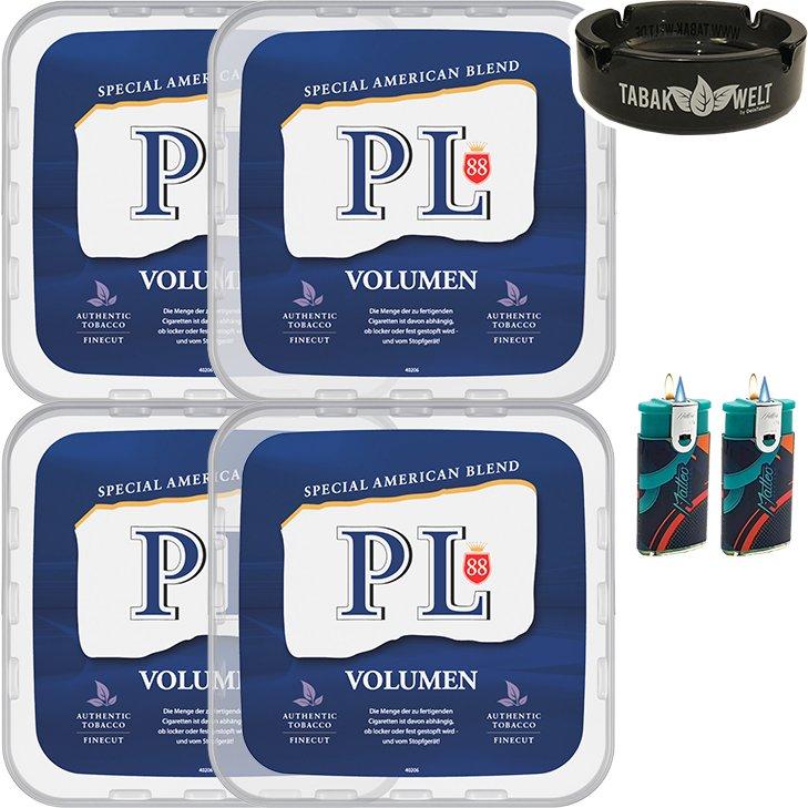 PL88 Blue / Blau 4 x 400g mit Glasaschenbecher