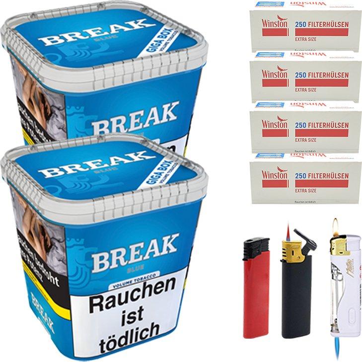 Break Blue 2 x 230g mit 1000 Extra Size Hülsen