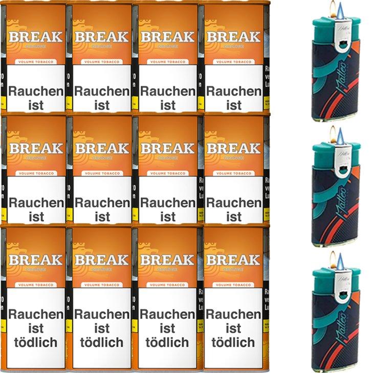 Break Orange 12 x 110g mit Feuerzeugen