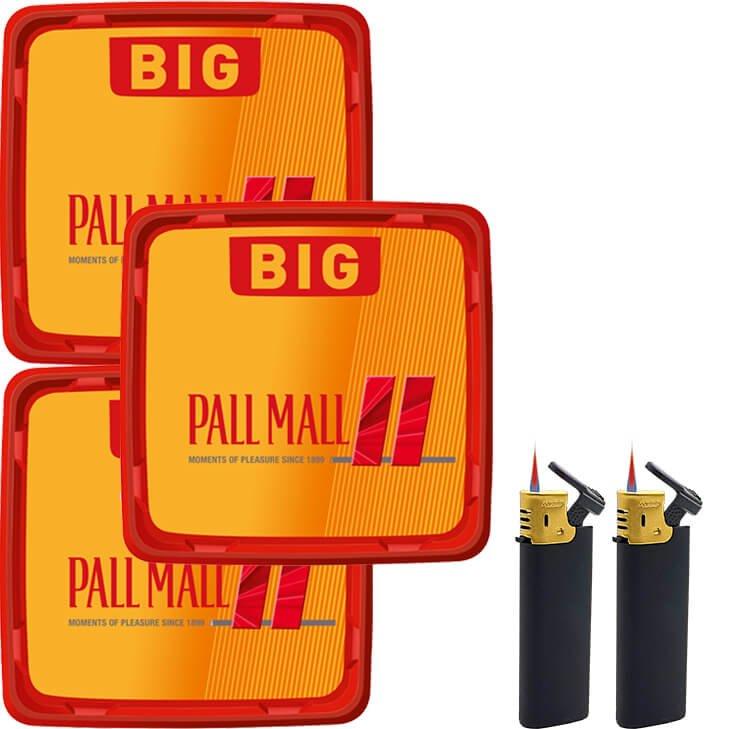 Pall Mall Allround Red 3 x 120g mit Strumfeuerzeugen
