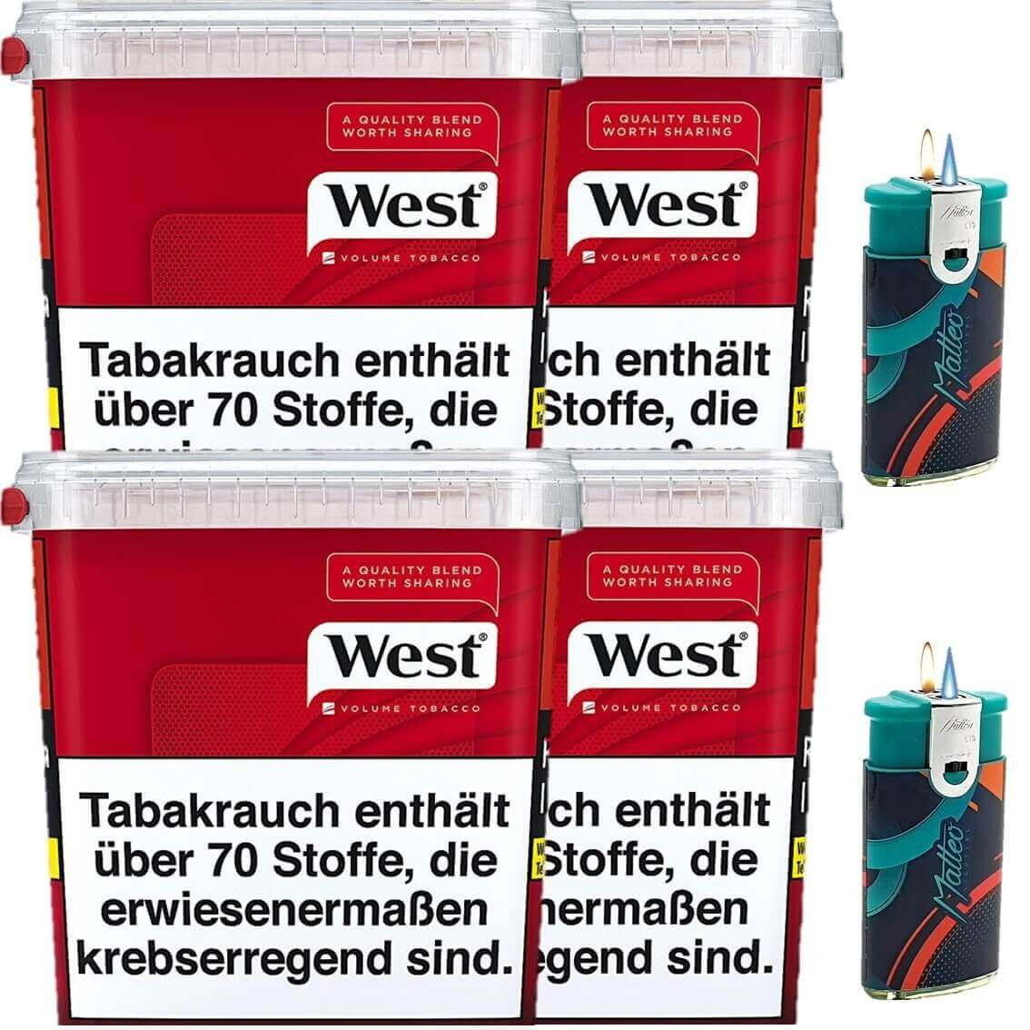 West Red 4 x 280g mit Feuerzeugen