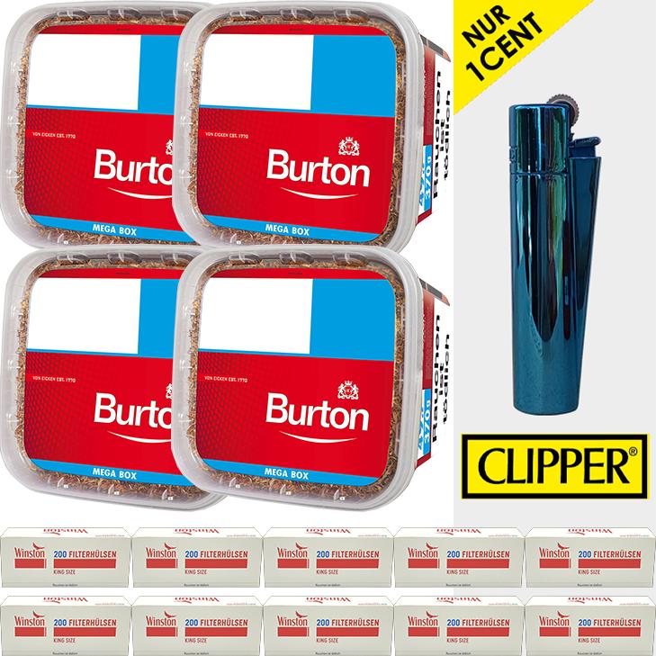 Burton Original 4 x 350g mit 2000 King Size Filterhülsen