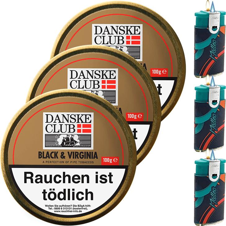 Danske Club Black & Virginia 3 x 100g