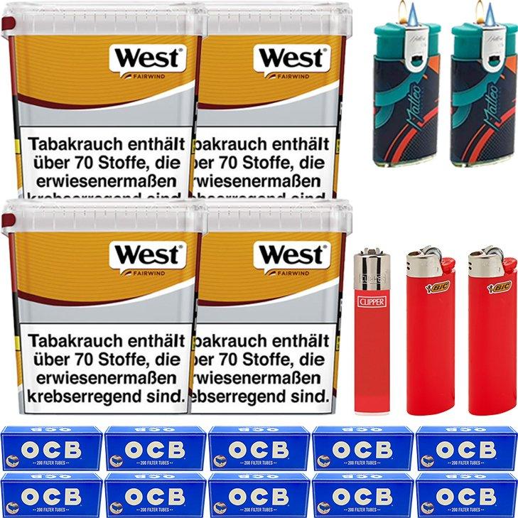 West Yellow Fairwind 4 x 310g mit 2000 OCB Hülsen