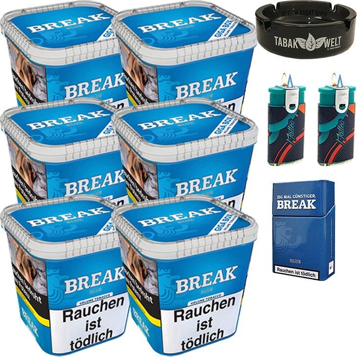 Break Blue 6 x 230g mit Glasaschenbecher