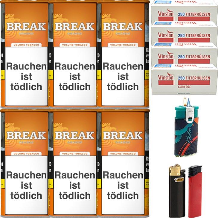 Break Orange 6 x 110g mit 1000 Special Size Hülsen