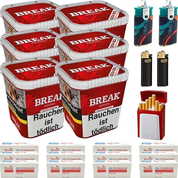 Break Original 6 x 230g mit 3000 Special Size Hülsen
