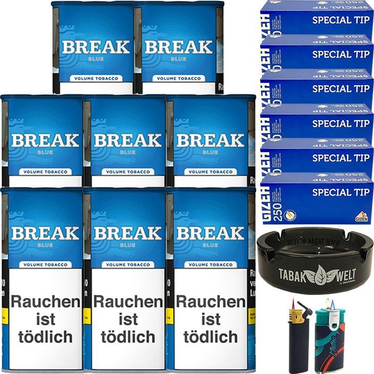 Break Blue / Blau 8 x 115g mit 1500 Gizeh Hülsen