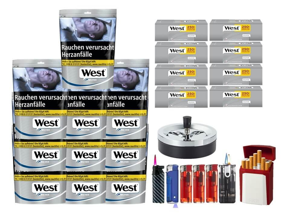 West Silver 10 x 96g mit 2000 Silver Extra Size Hülsen