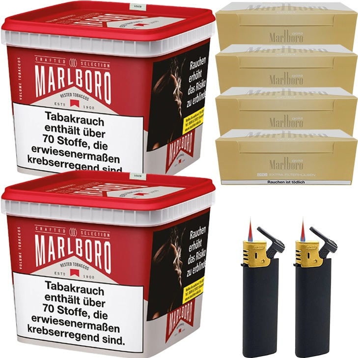 Marlboro Crafted Selection 2 x 300g mit 1000 Extra Size Hülsen