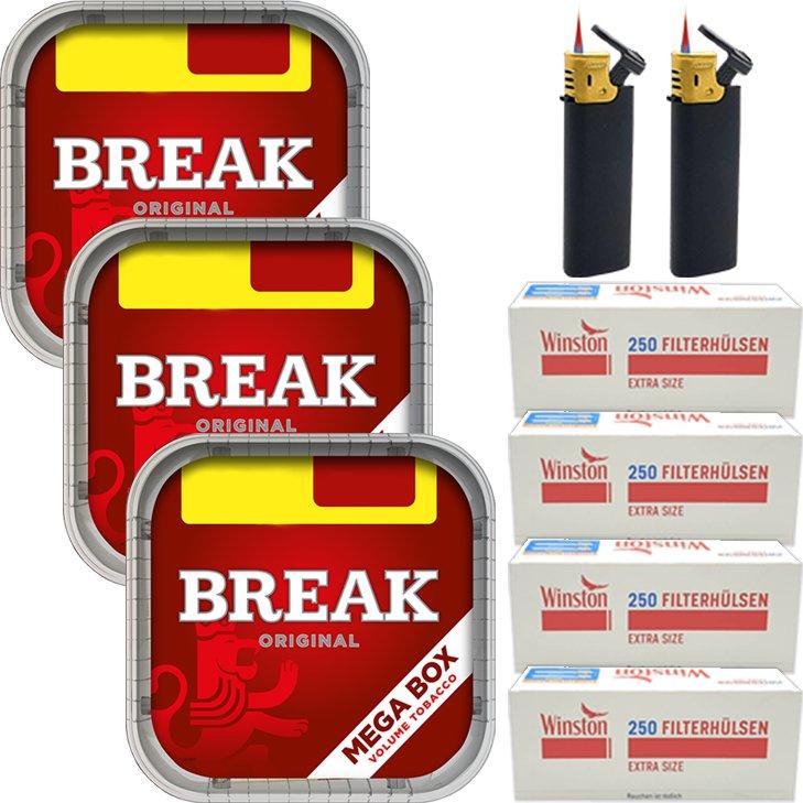 Break Original 3 x 170g mit 1000 Extra Size Hülsen