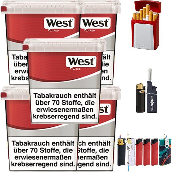 West Red 5 x 260g mit Etui