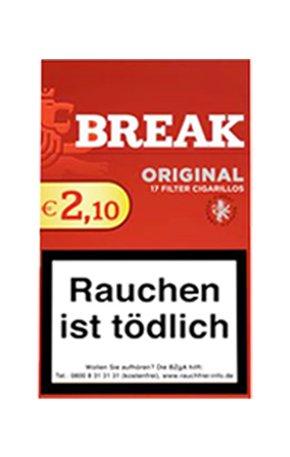 Break Original Zigarillos mit Filter (2 Stangen) 20 x 17 Stück