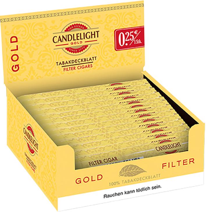 Candlelight Gold Filter 50 Zigarren