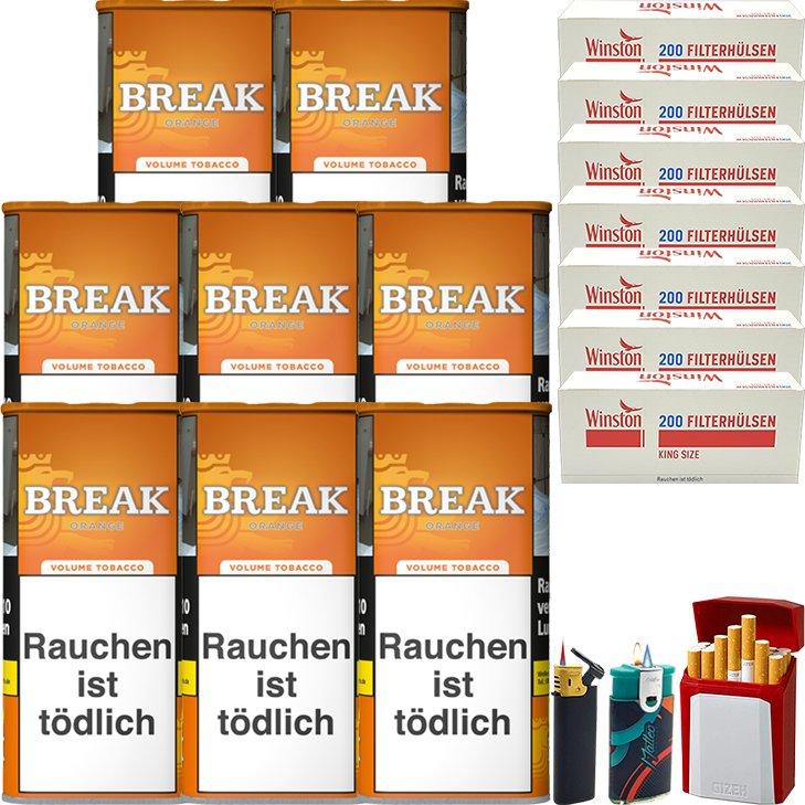 Break Orange 8 x 110g mit 1400 King Size Hülsen